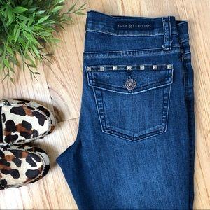 Rock & Republic crop ankle stud pocket jeans 8